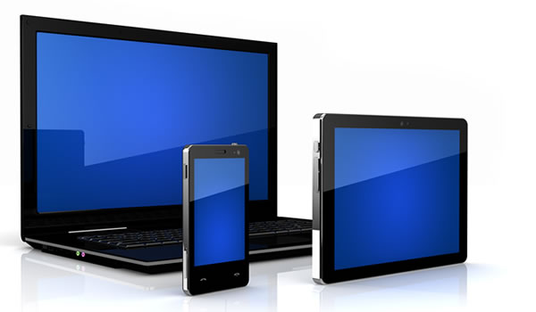 Tablet Smartphone and Laptop Graphic